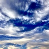 the sky is where the angels reside